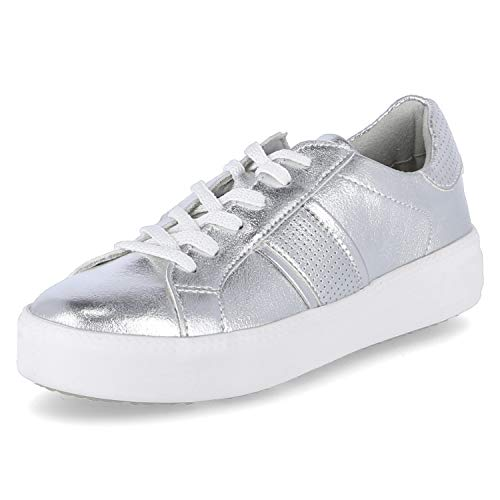 Tamaris Damen 1-1-23750-24 Sneaker, Silber (Silver Uni 983), 36 EU