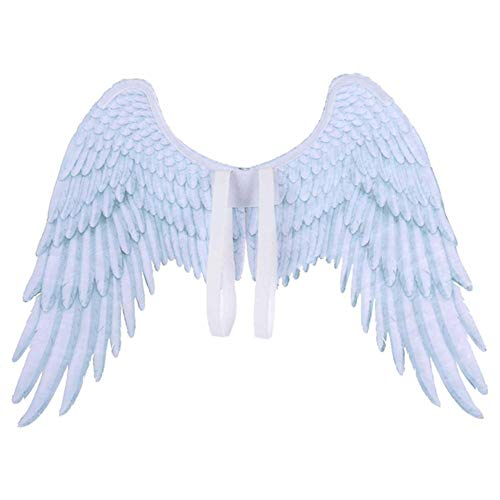 xiangpian183 Alas de ángel de Plumas Blancas/Negras - Halloween Christmas Wings Adult Costume Disfraces Accesorios
