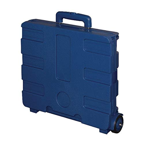 Office Depot Mobile Folding Cart with Lid, 16in.H x 18in.W x 15in.D, Blue, 50803 Photo #3