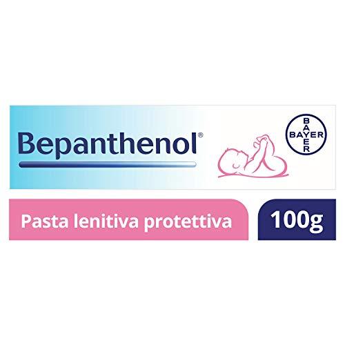Bepanthenol Pasta Lenitiva Protettiva con Pantenolo 5%, Crema Cambio Pannolino Neonato, Senza Ossido di Zinco, 100 g