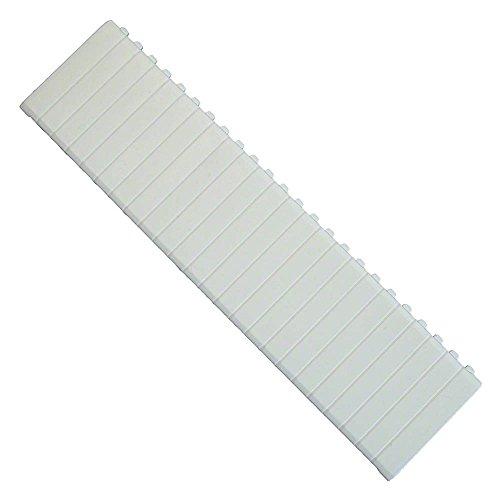 Abdeckstreifen für Verteiler für 12 Modulplätze weiß
