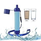 BOROMI Filtro de Agua Supervivencia, Filtro de Purificación de Agua de Supervivencia Salvaje de Emergencia al Aire Libre Portátil para Acampar, Caminar, Vacaciones, Etc
