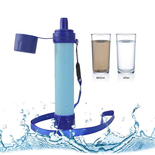 Filtro de Agua Supervivencia, Filtro de Purificación de Agua de Supervivencia Salvaje de Emergencia al Aire Libre Portátil para Acampar, Caminar, Vacaciones, Etc