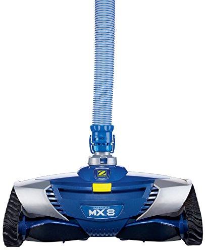 Zodiac Robot Nettoyeur de Piscine Hydraulique, Fond et Parois, Pour Piscines 12 x 6 m Maximum, Aspiration Mécanique, MX8, Bleu, W70668