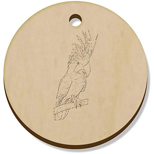 Azeeda 11 x 34mm 'Palm Cockatoo' Wooden Pendants / Charms (PN00062130)