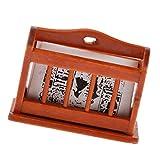 1:12 Puppenhaus Zubehör Miniatur Holz Bücherregal Zeitungsstand mit Zeitung Modell