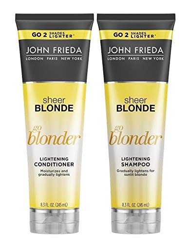 John Frieda Sheer Blonde Go Blonder Lightening Shampoo and Conditioner, New 8.3 Fluid Ounce