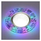 YSJJJBR Foco Empotrable LED 1 unids/Lote 3w LED Downlights empotrados Lámparas de luz de Techo incrustadas DIRIGIÓ Downlights Decoración del hogar Luz (Emitting Color : Purple, Wattage : 3w)