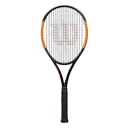 Wilson Tennisschläger, Burn 100LS, Unisex, Ambitionierte Freizeitspieler, Griffstärke L2, grau/orange, WR000210U2