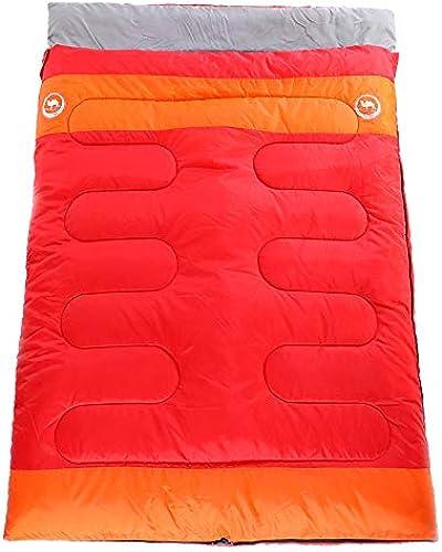 WILRND Home Nouveau Sac de Couchage Double Pratique Sac de Couchage Adulte Camping extérieur (Couleur   rouge)