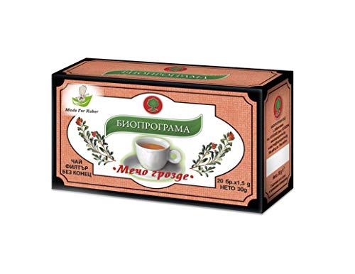 Bearberry Tea 20 Bags | Bioprogramme for Kuker | Urological Tea | Arctostaphylos Uva Ursi for Urinary Tract | Herbal Infusion Sachets | Natural Herbal Tea