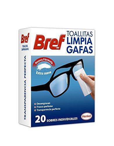 Bref Toallitas para Limpia Gafas - 20 Unidades
