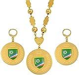 Mxdztu Co.,ltd Collar Conjuntos De Joyas Colgantes De Bandera Pendientes Grandes Cuentas De Bolas Redondas Collares De Cadena Regalos De Joyería