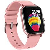 AMATAGE Smart Watch for Android Phones iPhone for Men Women, Fitness Tracker Watch with Heart Rate Monitor , Waterproof Activity Tracker with Sleep Monitor(Pink)