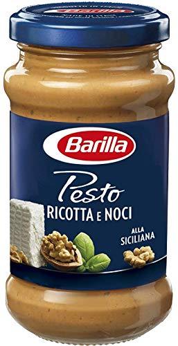 Barilla Sugo Pesto Ricotta e Noci, Pesto alla Siciliana, Grana Padano DOP, Senza Glutine, 170 g