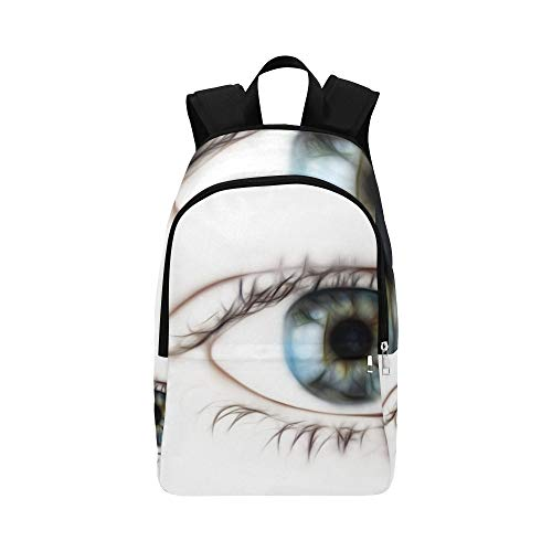 Eye Tabs Blue Eye See Casual Daypack Travel Bag College School Backpack for Mens and Women