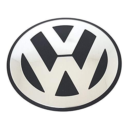 Volkswagen 06F103940 Emblem VW Motorabdeckung Abdeckung Saugrohr Entlüftung Zylinderblock Logo silber/schwarz