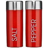 LY Tools - Botes de Almacenamiento para té, café, azúcar, Sal y Pimienta, Color Crema o Rojo, Salt & Pepper Set - Red