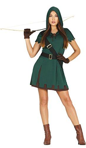 Guirca- Disfraz adulta cazadora, Talla 38-40 (88240.0)