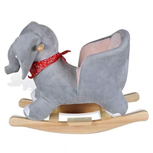 vidaXL Schaukeltier Schaukelpferd Elefantschaukel Tier Schaukelelefant Spielzeug - 2