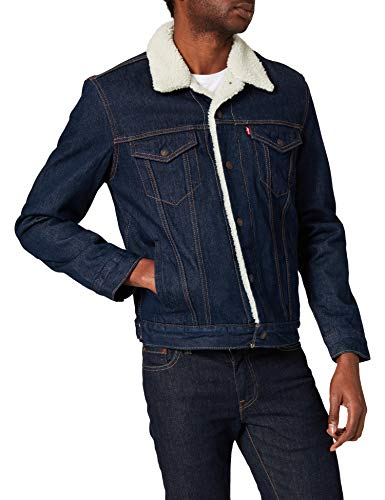 Levi's Type 3 Sherpa Trucker, Chaqueta para Hombre, Azul (Rockridge Trucker 0084), Small