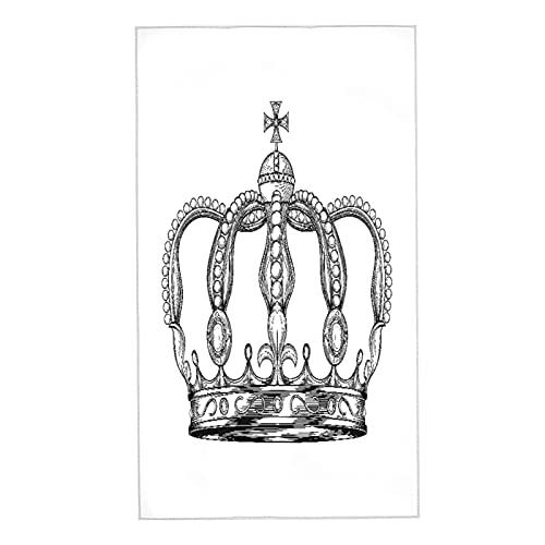 PUNKDBOTTO 2 toallas de baño, calma corona mantener el bosquejo individual King abstracto, ultra suaves y altamente absorbentes toallas de mano para baño, toalla de ducha