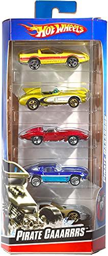 Hot Wheels 01806 5er Pack 1:64 Die-Cast Fahrzeuge Geschenkset, je 5 Spielzeugautos, zufällige Auswahl, ab 3 Jahren