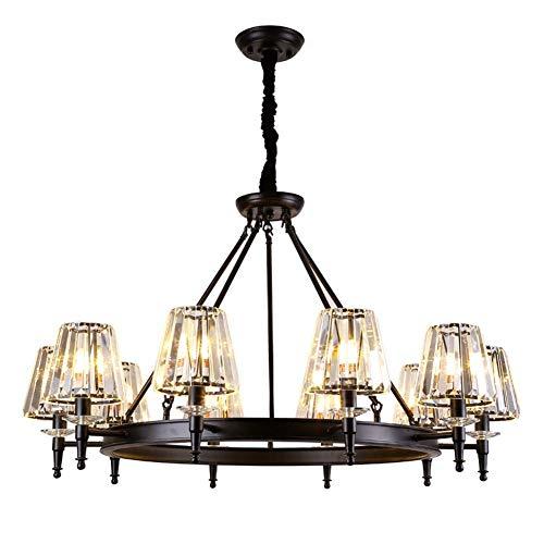 Hanglamp hanglamp kristal zwart woonkamer kristal glazen sokkel E14 tuinhuis 220V