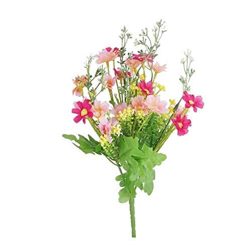 Hemore 28 Blüten Kunstblumen echte kleine Gänseblümchen künstliche natürliche Gänseblümchen Hochzeit Blumensträuße Tischdeko Rose Rot Rosa