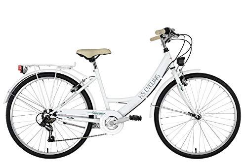 KS Cycling Damenfahrrad 26\'\' Toscana weiß RH41cm
