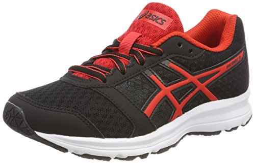 Asics Patriot 9 GS, Zapatillas de Running Unisex Niños, Negro (Black/Fiery Red/White 9023), 40 EU