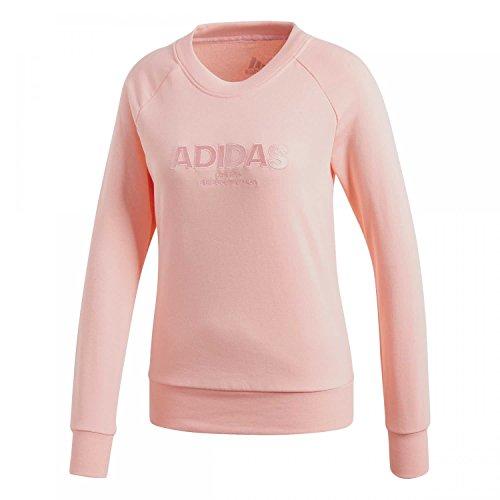 adidas Damen Essentials Allcap Langarm Sweatshirt, Haze Coral, L