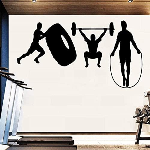 43x80cm gimnasio arte removible vinilo pegatinas de pared para sala de estar de pared