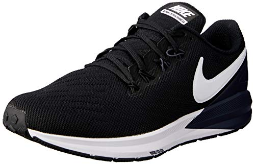 Nike Men's Air Zoom Structure 22 Running Shoe Black/Gridiron/White 8 M US