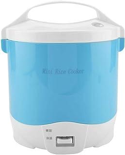 Mini fiambrera del camión del coche del vapor del hervidor de arroz de 24V 180W 1.6L para el arroz, la sopa, las gachas de avena y mantener caliente(Blue)
