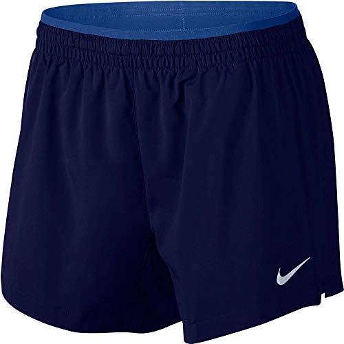 Nike Women's Elevate 5' Running Shorts Blue Void/Indigo Force/Reflective SILV S