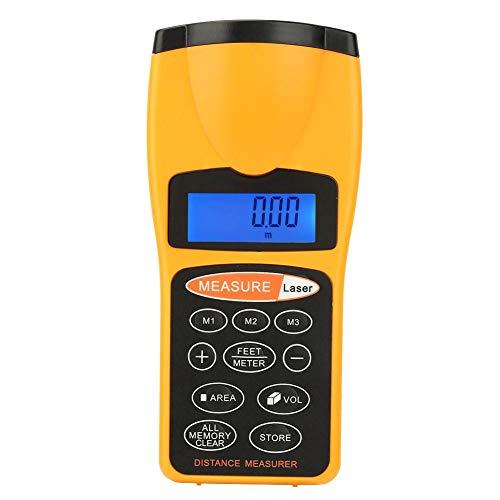 Oumefar Messgerät Automatische Datenspeicherung Ultraschall-Messgerät Zeiger Hochempfindliche Standard-manuelle Abschaltung mit Einer Reichweite von bis zu 18 Metern für den Außenbereich für die