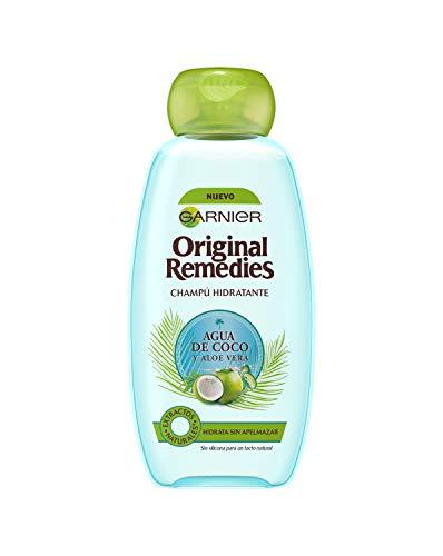 Garnier Original Remedies Feuchtigkeitsspendendes Shampoo, Kokoswasser und Aloe Vera für normales Haar, 300 ml