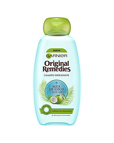 Garnier Original Remedies - Champú Hidratante Agua de Coco y Aloe Vera para Pelo Normal - 300 ml