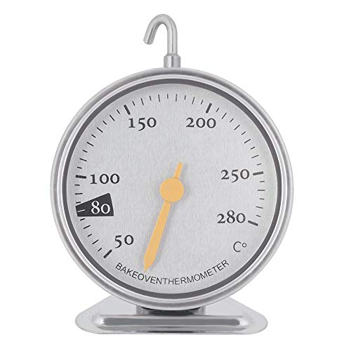 Backofenthermometer, Edelstahl Backofenthermometer Large Dial Küche Backofentemperatur Tester 50 ℃ bis 280 ℃
