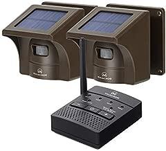 1/2 Mile Solar Driveway Alarm Sytem Wireless Long Range Outdoor Weather Resistant Motion Sensor & Detector- Driveway Alarms Wireless Outside Monitor & Protect