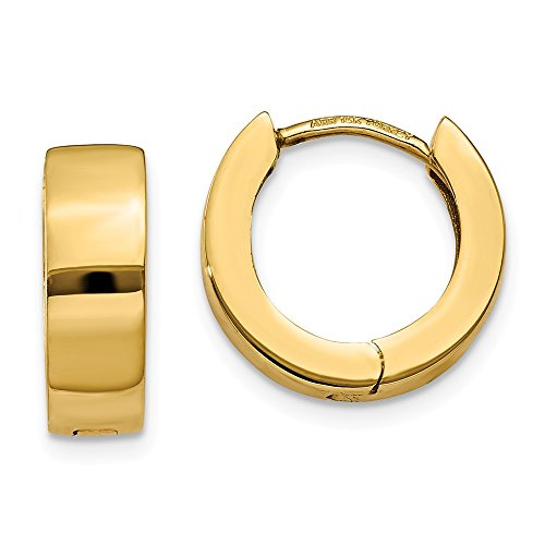 14k Yellow Gold Hinged Hoop Earrings Ear Hoops Set Round Fine Jewelry For Women Gifts For Her