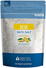 Detox Bath Salt 128 Ounces Epsom Salt with Natural Ginger and Lemon Essential Oils Plus Vitamin C in BPA Free Pouch with Easy Press-Lock Seal