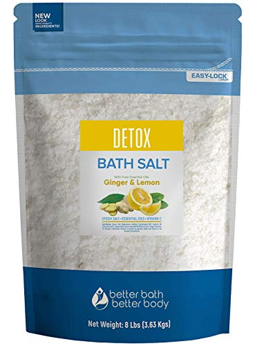 Detox Bath Salt 128 Ounces Epsom Salt with Natural...