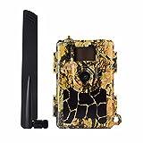 BWGQ Cámara De Rastreo Celular 4G LTE, Cámara De Vida Silvestre 24MP 1080P FHD Visión Nocturna Movimiento Activado con Cámara De Juego Impermeable IP66
