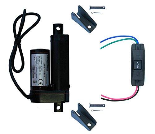 WINDYNATION2 인 2 개의 치기 선형 액추에이터 12 볼트 12V225 파운드 파운드+이 아래 DPDT 전환+장착 브래킷(2 액추에이터 유지 SWITCH)