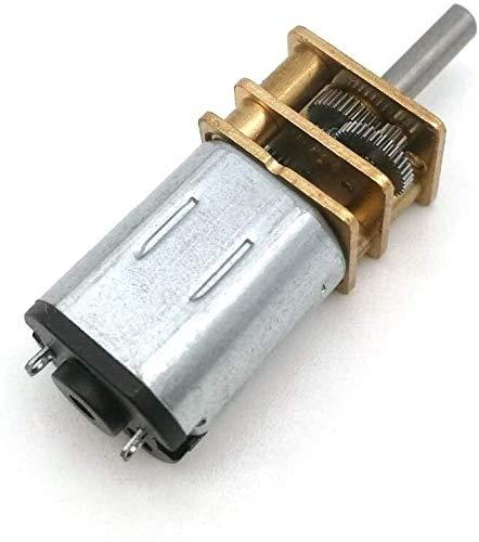 Exquisito 0 1pc eléctrico N20 Micro velocidad del engranaje motor del engranaje de la CC 3V 6V 12V Reducción del motor del engranaje reductor del motor for el robot modelo de coche eléctrico de piezas