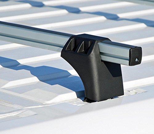 VDP XL Pro 200 Alu Dachträger Lastenträger 200kg kompatibel mit Ford Transit Connect (Kleinbus/Kasten) ab 2013 2 Stangen