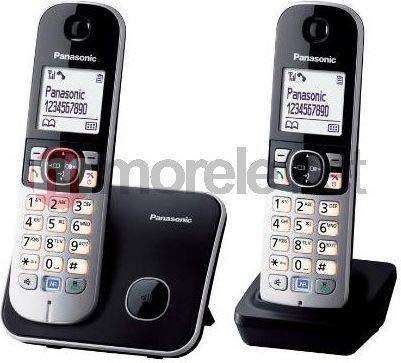 Panasonic - Kx-tg6812 - teléfono (dect, Escritorio, Negro, Plata, AAA, Monocromo, 103 x 65 Pixeles)