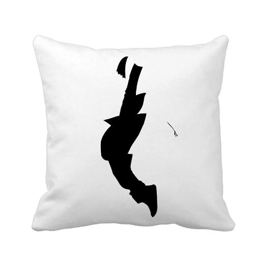 優雅別の喪ジャンプのダンサーがヒップホップのスポーツ パイナップル枕カバー正方形を投げる 50cm x 50cm